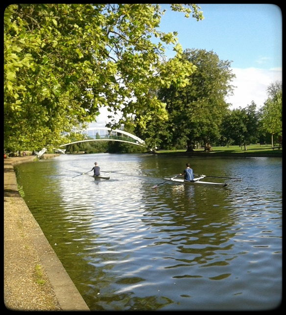 Rowing on the River Ouse at the Embankment,  Bedford